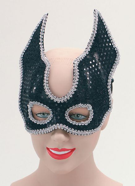 Black Sequin Half Face Eyemask Masquerade Ball Eye-Mask Eye Mask Fancy Dress